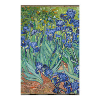 Vincent Van Gogh Irises Painting Flowers Art Work Customized Stationery