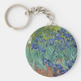 Vincent Van Gogh Irises Painting Flowers Art Work Key Ring