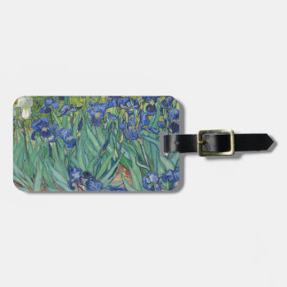 Vincent Van Gogh Irises Painting Flowers Art Work Luggage Tag