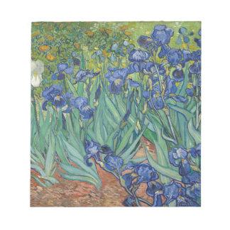 Vincent Van Gogh Irises Painting Flowers Art Work Notepad