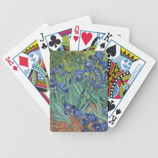 Vincent Van Gogh Irises Painting Flowers Art Work Poker Deck