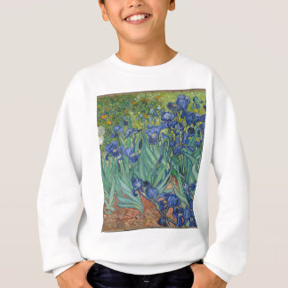 Vincent Van Gogh Irises Painting Flowers Art Work Sweatshirt