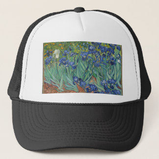 Vincent Van Gogh Irises Painting Flowers Art Work Trucker Hat