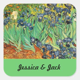 Vincent van Gogh,Irises Square Sticker