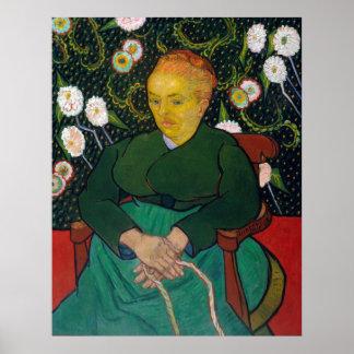 Vincent van Gogh La Berceuse Woman Poster