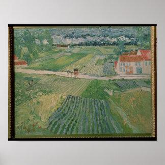Vincent van Gogh | Landscape at Auvers Poster