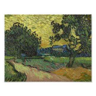 Vincent van Gogh - Landscape at Twilight Photo Print