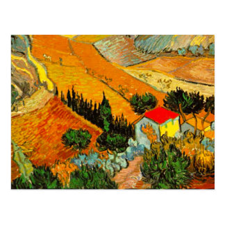 Vincent Van Gogh Landscape & House Enhanced Postcard