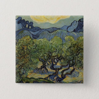 Vincent van Gogh - Landscape with Olive Trees 15 Cm Square Badge