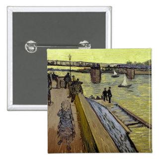 Vincent van Gogh | Le Pont de Trinquetaille Arles 15 Cm Square Badge