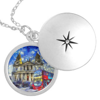 Vincent Van Gogh London Locket Necklace