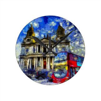 Vincent Van Gogh London Round Clock