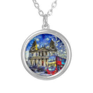 Vincent Van Gogh London Silver Plated Necklace