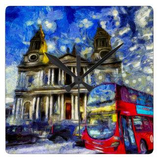 Vincent Van Gogh London Square Wall Clock