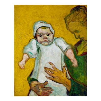 Vincent van Gogh Madame Roulin and Her Baby Poster