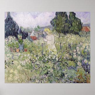 Vincent van Gogh | Mademoiselle Gachet in garden Poster