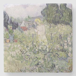 Vincent van Gogh   Mademoiselle Gachet in garden Stone Coaster