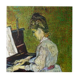 Vincent Van Gogh - Marguerite Gachet At The Piano Tile