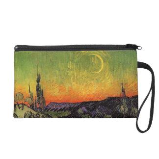 Vincent Van Gogh Moonlit Landscape Wristlet Purses