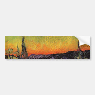 Vincent Van Gogh Moonlit Landscape Bumper Sticker