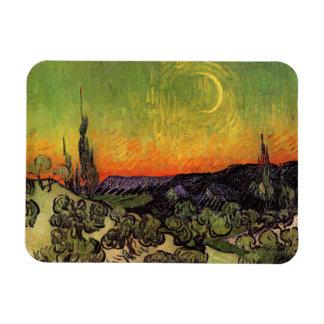 Vincent Van Gogh Moonlit Landscape Flexible Magnet