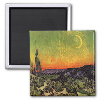 Vincent Van Gogh Moonlit Landscape Magnets