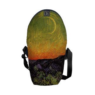 Vincent Van Gogh Moonlit Landscape Courier Bags