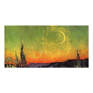 Vincent Van Gogh Moonlit Landscape Personalized Photo Card