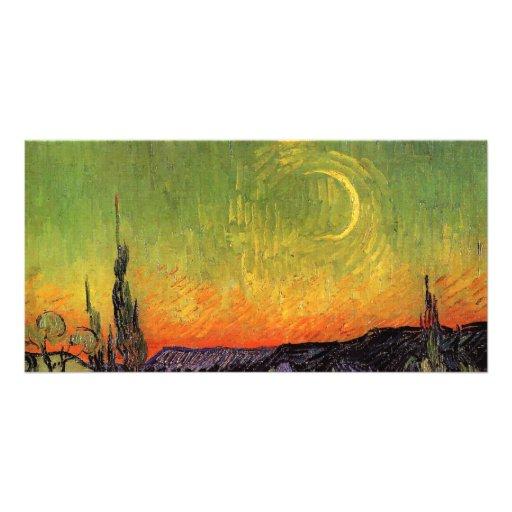 Vincent Van Gogh Moonlit Landscape Picture Card