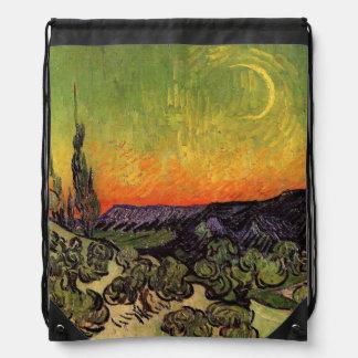 Vincent Van Gogh Moonlit Landscape Cinch Bag
