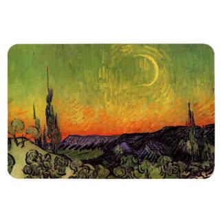 Vincent Van Gogh Moonlit Landscape Vinyl Magnets