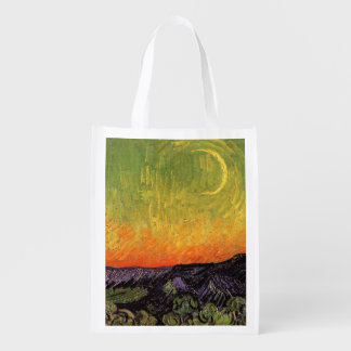 Vincent Van Gogh Moonlit Landscape Reusable Grocery Bag