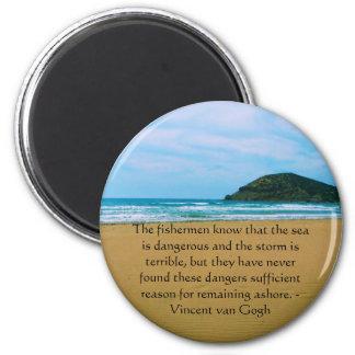 Vincent van Gogh motivational quote 6 Cm Round Magnet