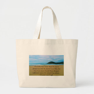 Vincent van Gogh motivational quote Jumbo Tote Bag