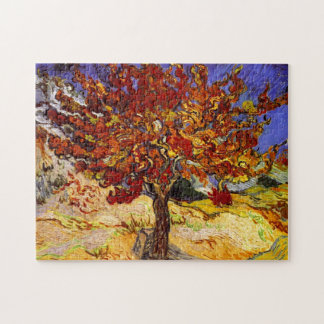 Vincent Van Gogh Mulberry Tree Fine Art Painting Jigsaw Puzzle
