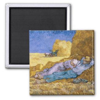 Vincent van Gogh | Noon, The Siesta, after Millet Magnet