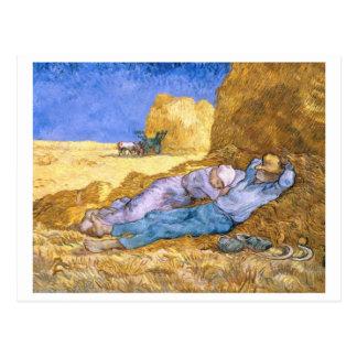 Vincent van Gogh | Noon, The Siesta, after Millet Postcard