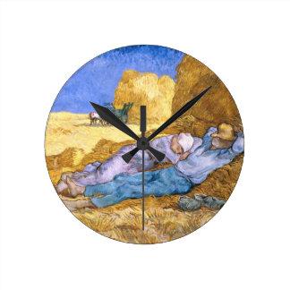 Vincent van Gogh | Noon, The Siesta, after Millet Round Clock