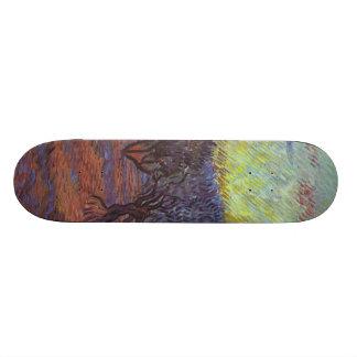 Vincent Van Gogh - Olive Grove Custom Skateboard