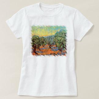 Vincent Van Gogh - Olive Grove with Orange Sky T-Shirt