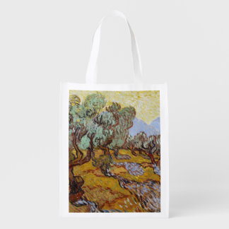 Vincent van Gogh | Olive Trees, 1889 Reusable Grocery Bag