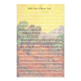 Vincent van Gogh Olive Trees Customized Stationery