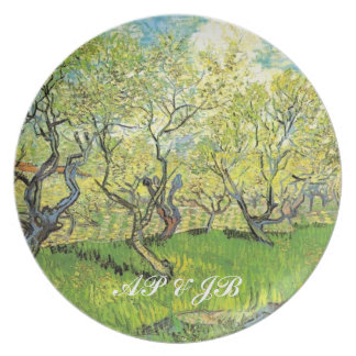 Vincent van Gogh,Orchard in Blossom Dinner Plate
