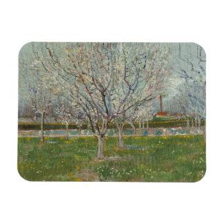 Vincent van Gogh - Orchard in Blossom Rectangular Photo Magnet