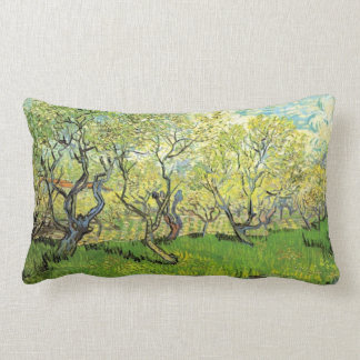 Vincent van Gogh,Orchard in Blossom Throw Pillows