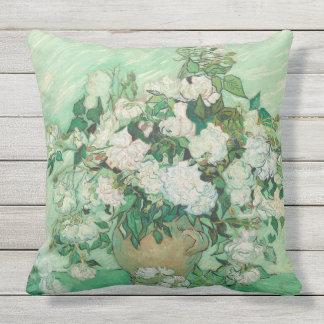 Vincent van Gogh Painting, Roses 1890 Pillow