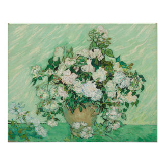 Vincent van Gogh Painting, Roses 1890 Poster