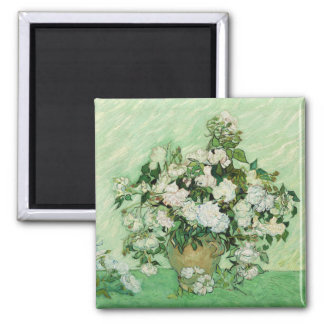 Vincent van Gogh Painting, Roses 1890 Square Magnet