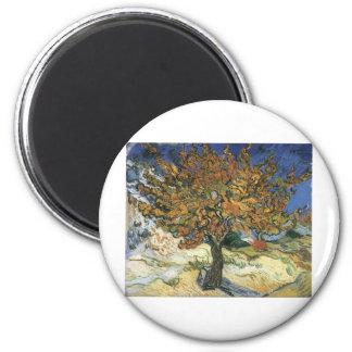 Vincent Van Gogh Painting: Van Gogh Mulberry Tree 6 Cm Round Magnet
