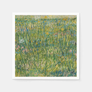 Vincent van Gogh, Patch of grass Colorful Paper Napkin